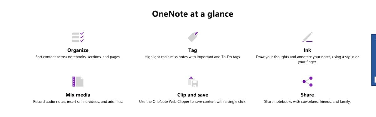 Onenote features