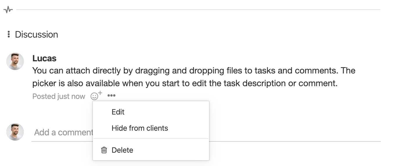 Task comment